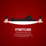 Patient Lay Down On Stretcher. Royalty Free Stock Photo