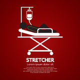 Patient Lay Down On Stretcher. Royalty Free Stock Image