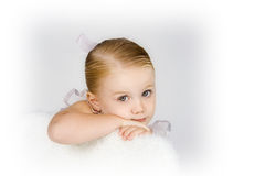 Patient Little Ballerina Royalty Free Stock Photography