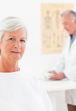 Patient looking at the camera Royalty Free Stock Images
