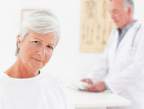 Patient looking at the camera Royalty Free Stock Photo