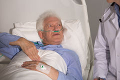 Patient with lung cancer. Staying in hospital royalty free stock photos