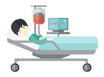 Patient lying in bed Royalty Free Stock Image