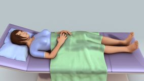 Patient Lying. Patients lying on the bed in hospitals vector illustration