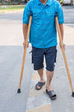 A patient man with walker Stock Image