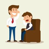 Patient mental counseling therapy. Illustration eps 10 royalty free illustration
