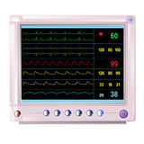 Patient monitor medical device  for hospitals isolated. Vector Stock Images