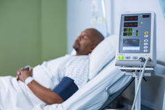 Patient monitoring machine in ward royalty free stock photography