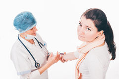 Patient with needle phobia Stock Image