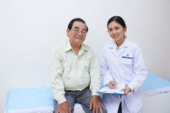 Patient and nurse Royalty Free Stock Image