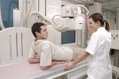 Patient and nurse X- ray Royalty Free Stock Photo