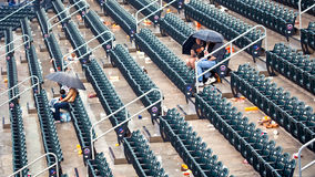 Patient NY Mets' fans during the 2009 season Royalty Free Stock Images