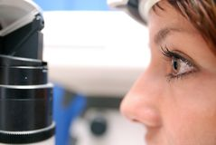 Patient at oculist Royalty Free Stock Image