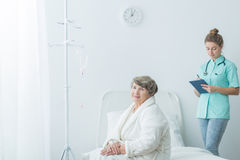 Patient after operation Stock Photos