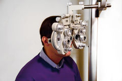 Patient at ophthalmologist Stock Photos