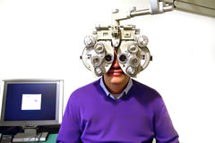 Patient at ophthalmologist Stock Photography
