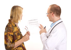 Patient by an ophthalmologist Royalty Free Stock Photography