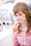 Patient in ophthalmology labor Royalty Free Stock Photography