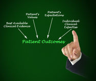 Patient Outcomes. Presenting diagram of Patient Outcomes royalty free stock images