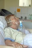 Patient On Oxygen Mask Stock Photography