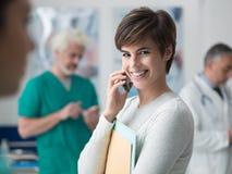 Patient på sjukhuset royaltyfri foto