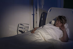 Patient of palliative ward Stock Image