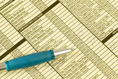Patient Paperwork With Pen Stock Photo