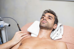 Patient at physiotherapy Royalty Free Stock Photography