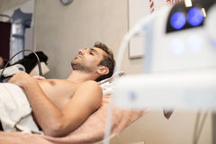 Patient at physiotherapy Stock Image