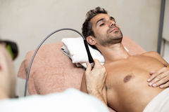 Patient at physiotherapy Stock Photo