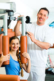Patient at the physiotherapy doing physical therapy Royalty Free Stock Images