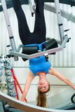 Patient at the physiotherapy doing physical therapy Royalty Free Stock Photography