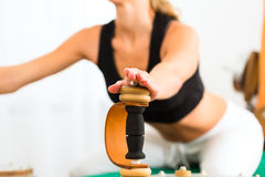 Patient at the physiotherapy Stock Photos