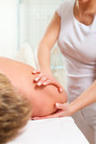 Patient at the physiotherapy - massage Royalty Free Stock Images