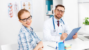 Patient at a reception at doctor at clinic Royalty Free Stock Image