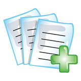 Patient records icon Royalty Free Stock Photography