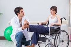 The patient recovering in hospital after injury trauma Stock Photo