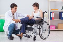 The patient recovering in hospital after injury trauma Royalty Free Stock Photo
