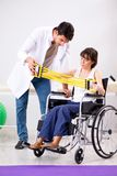 The patient recovering in hospital after injury trauma. Patient recovering in hospital after injury trauma Stock Photography