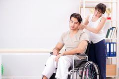 The patient recovering in hospital after injury trauma Royalty Free Stock Images