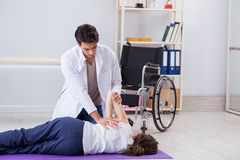 The patient recovering in hospital after injury trauma Stock Image