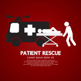 Patient Rescue Symbol Royalty Free Stock Photography
