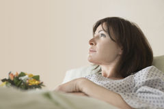 Patient Resting In Hospital Bed Stock Image