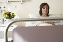 Patient Resting In Hospital Bed Royalty Free Stock Image