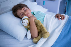 Patient resting in ward Stock Images