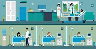 Patient room vector illustration