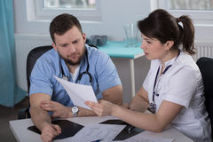 Patient's medical history Royalty Free Stock Photography