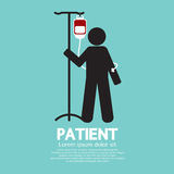 Patient With Saline Solution Graphic Symbol Royalty Free Stock Photo