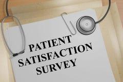 Patient Satisfaction Survey concept Stock Images