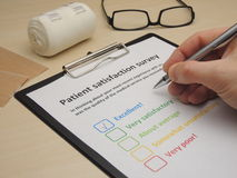 Patient satisfaction survey - excellent royalty free stock photos